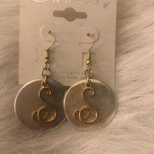 Jewelry - Initial Earrings Letter S
